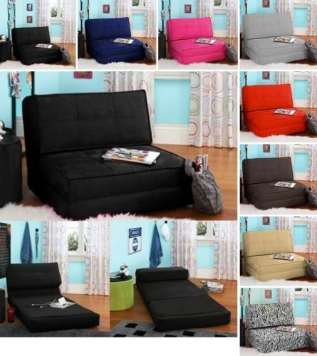 flip chair lounger lounge convertible recliner sleeper bed fold out kids new ebay. Black Bedroom Furniture Sets. Home Design Ideas