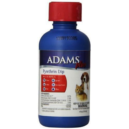 Adams Plus Pyrethrin Dip For Dogs And Cats 4 Oz New