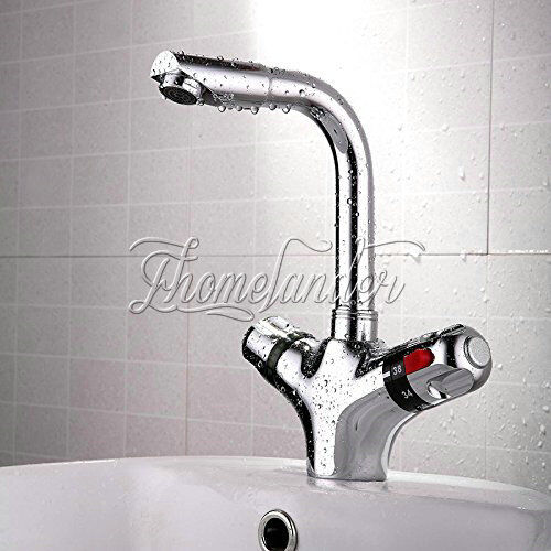 Chromed Bathroon Sink Faucet With Temperature Control