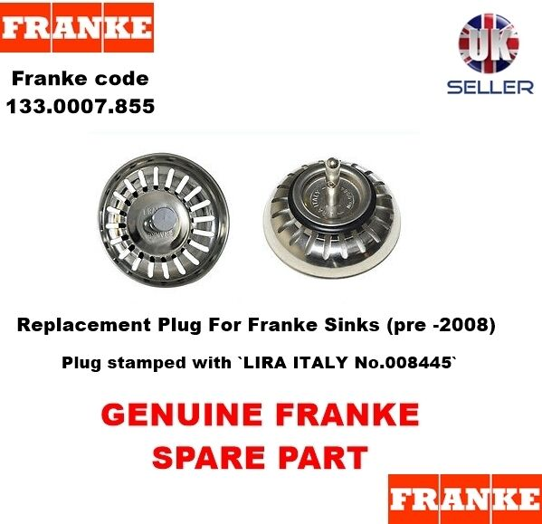 Good Franke Sink PLUG For Basket Strainer Waste (Old Style, Pre  2008 ... ➤. Franke  Sink Replacement Parts ...