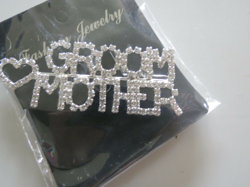 Wedding Gifts For A Bride: Clear Groom Mother Pin Brooch For Bridal Shower Wedding