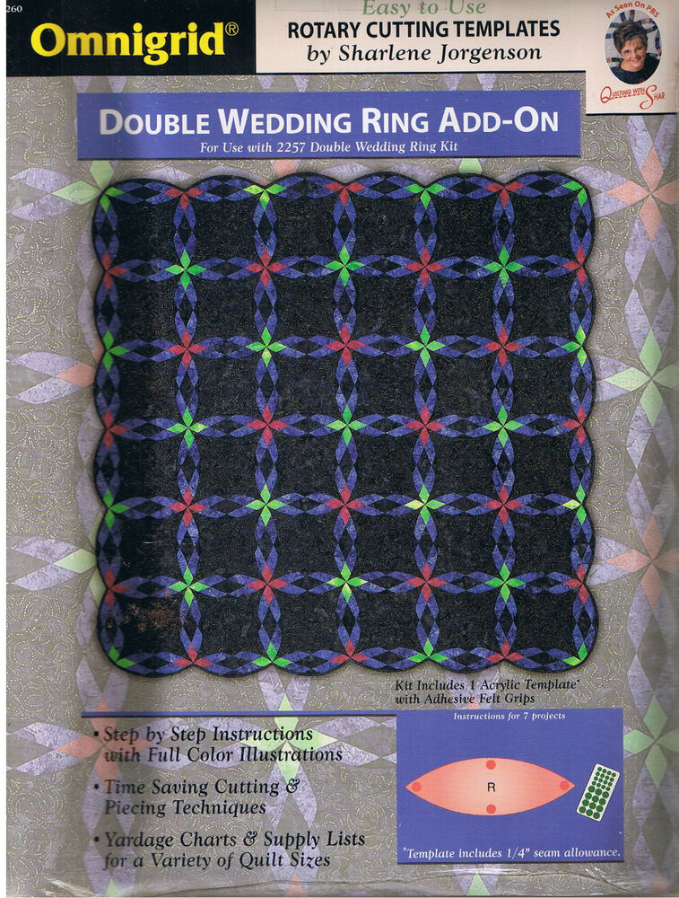 double wedding ring add on rotary cutting template and