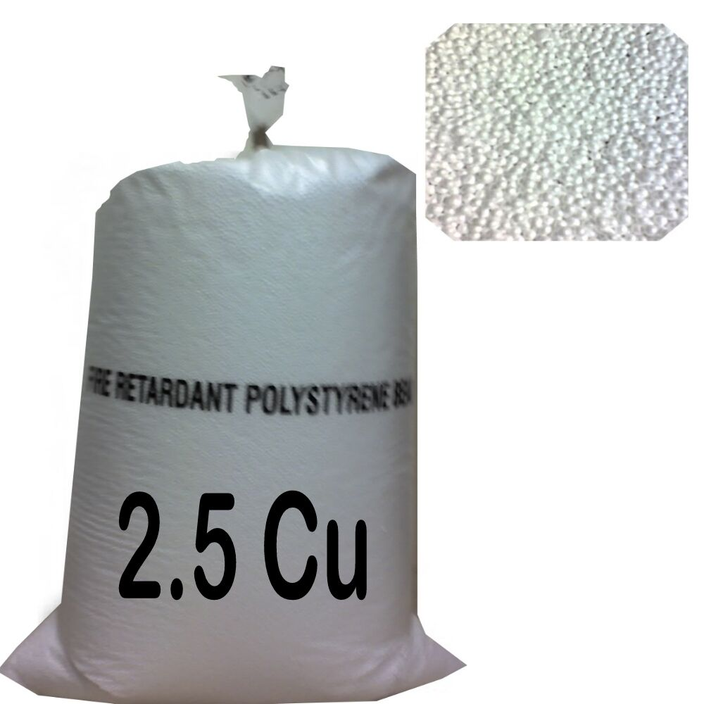 2 5cu Foot Bean Bag Refill Polystyrene Beads Filling Topup