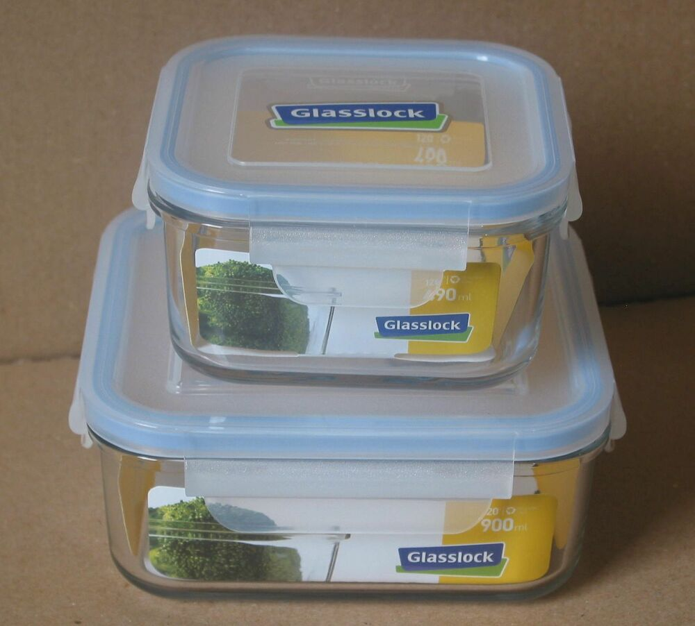 4pc Glasslock Tempered Glass Food Storage Containers