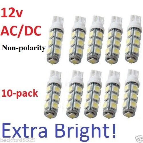 10 Pack T5 T10 Wedge 1 2w Bulb Warm White Led For Malibu
