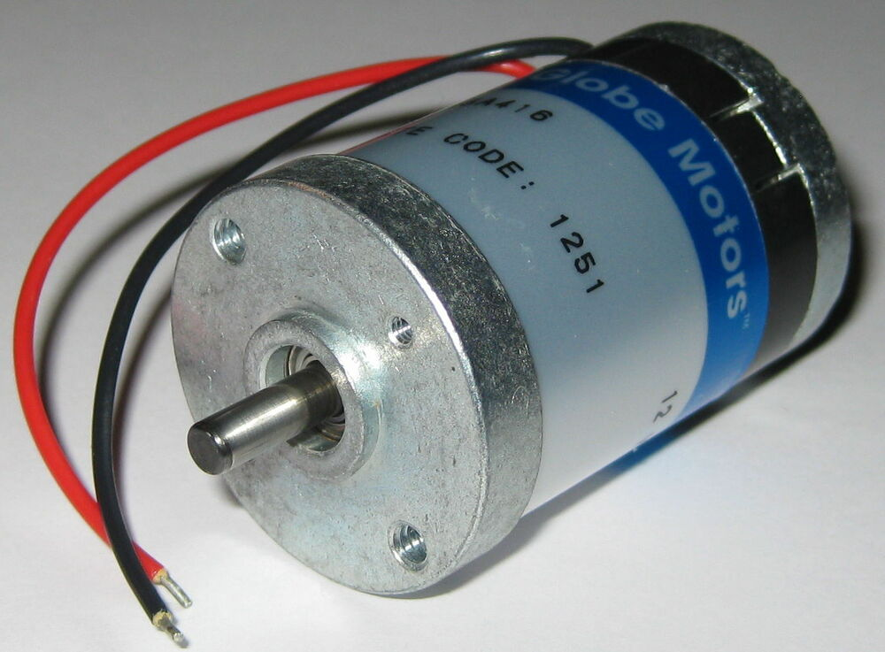 Globe motors 405a 12v dc motor 5000 rpm im 13 short for Low rpm motor dc