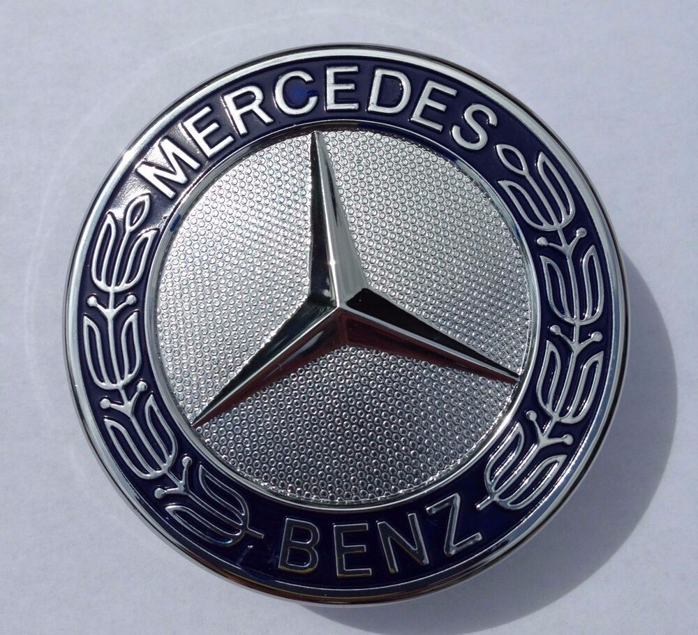 Mercedes flat hood emblem black for Mercedes benz trunk emblem