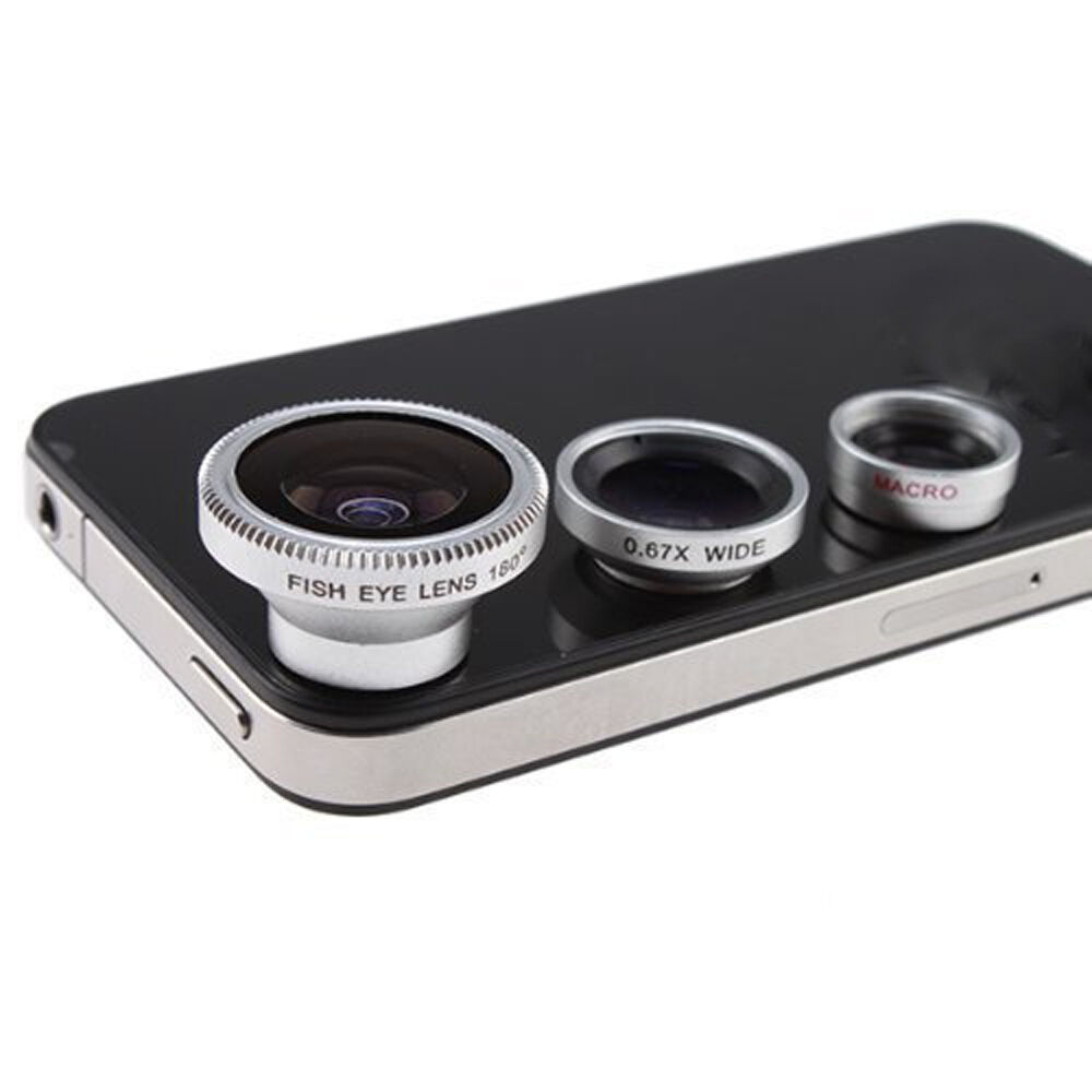 3x Camera Lens Kit For Iphone 4 4s Ipad Fish Eye Lens Wide