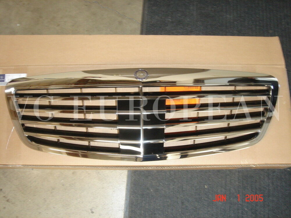 Mercedes benz genuine grille s550 s63 s class 07 09 new ebay for Mercedes benz grill