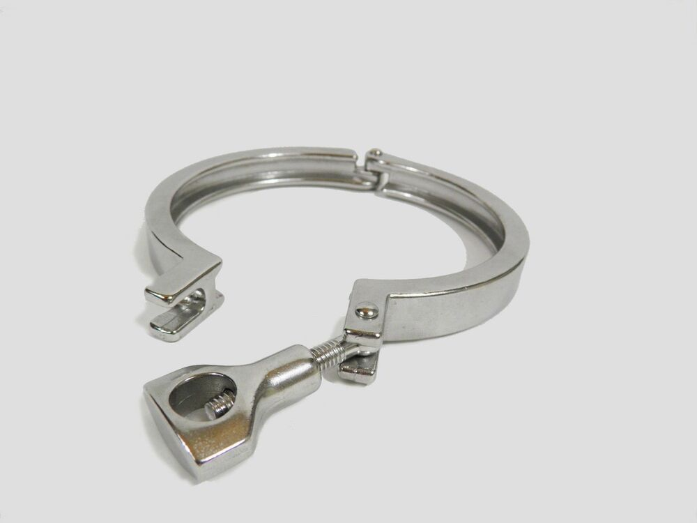 Quot single hinge sanitary tri clover clamp ss ebay