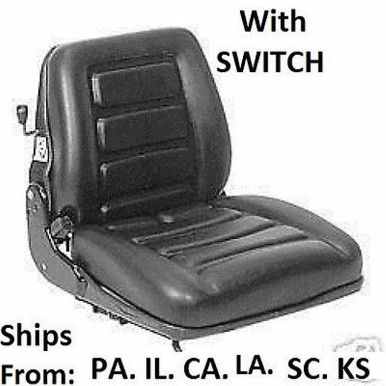 Bobcat Seat Replacement : Seat vinyl suspension with switch mower tractor skidsteer