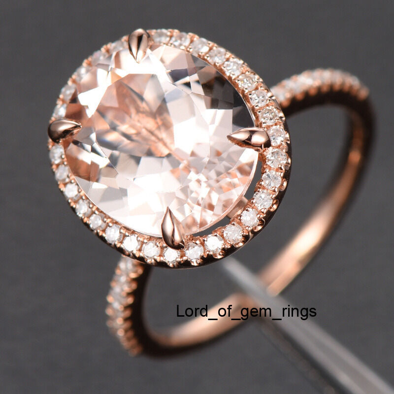 Morganite And Rose Gold Promise Ring