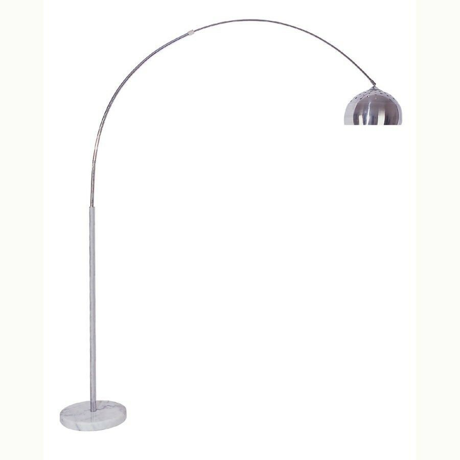 Beautiful Contemporary Arch Floor Lamp With White Marble