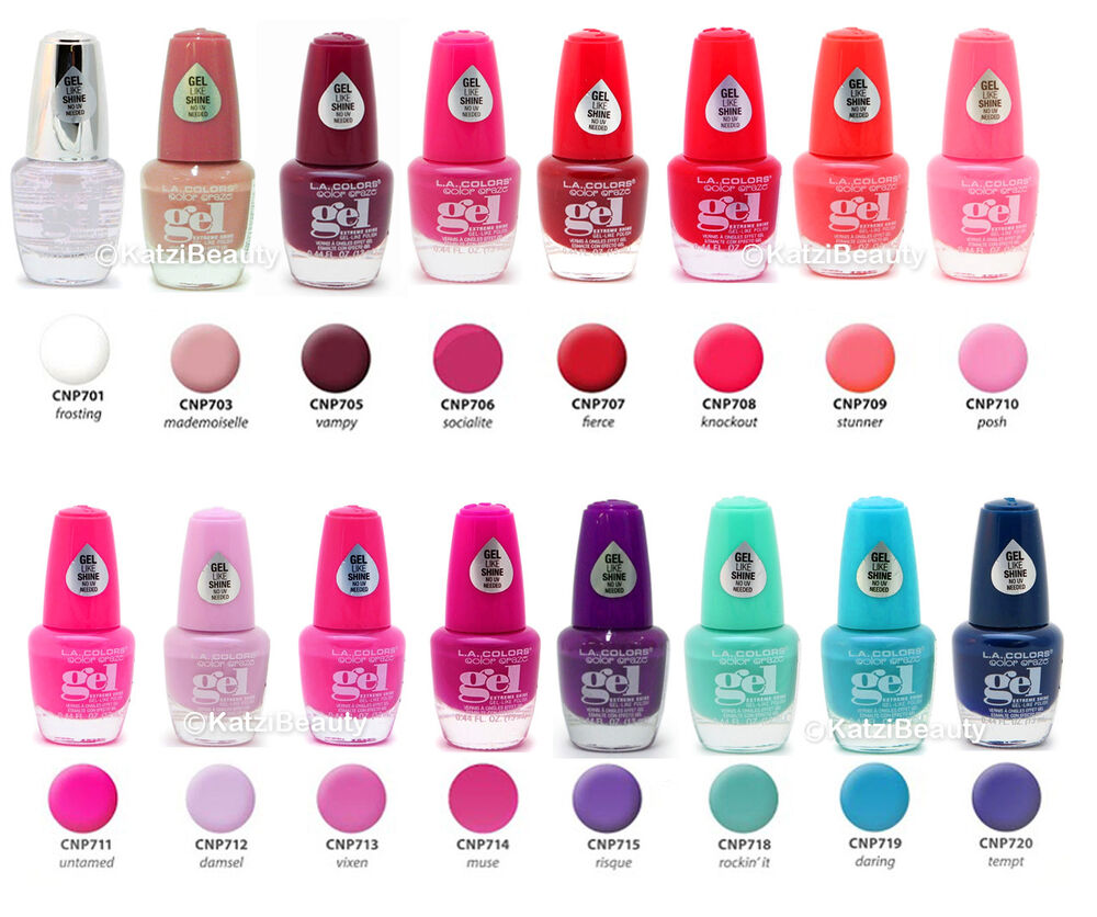 Gel Nail Polish Colors: LA COLORS COLOR CRAZE EXTREME SHINE GEL NAIL POLISH-(buy 3