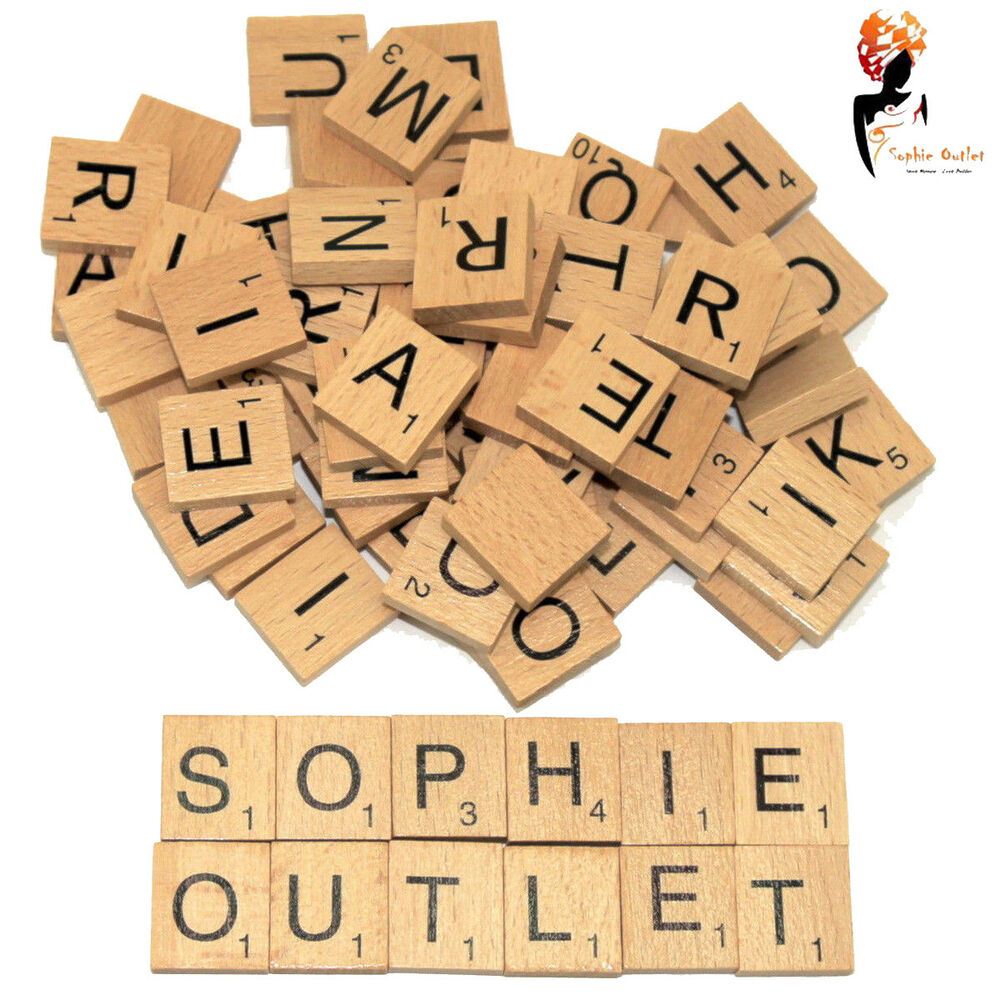 200 x wooden scrabble tiles letters crafts alphabet scrabbles board game toy 5055892538013 ebay. Black Bedroom Furniture Sets. Home Design Ideas
