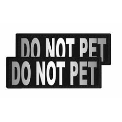 Do Not Pet Patch Reflective Extra Label Tag for Dog Harness Do Not Pet