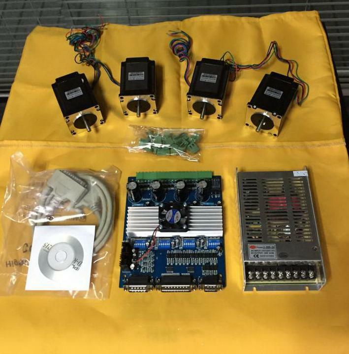 Selling 4axis nema 23 stepper motor 287oz in driver for 3 axis nema 23 stepper motor driver controller cnc kit