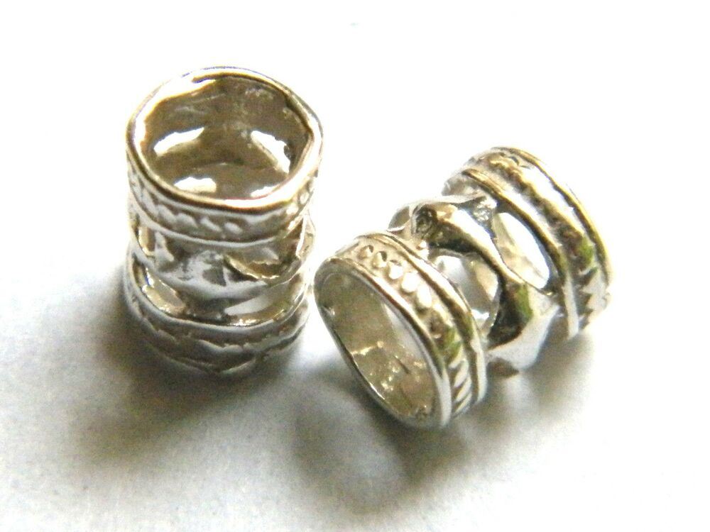 Sterling silver fancy tube bead mm spacer beads