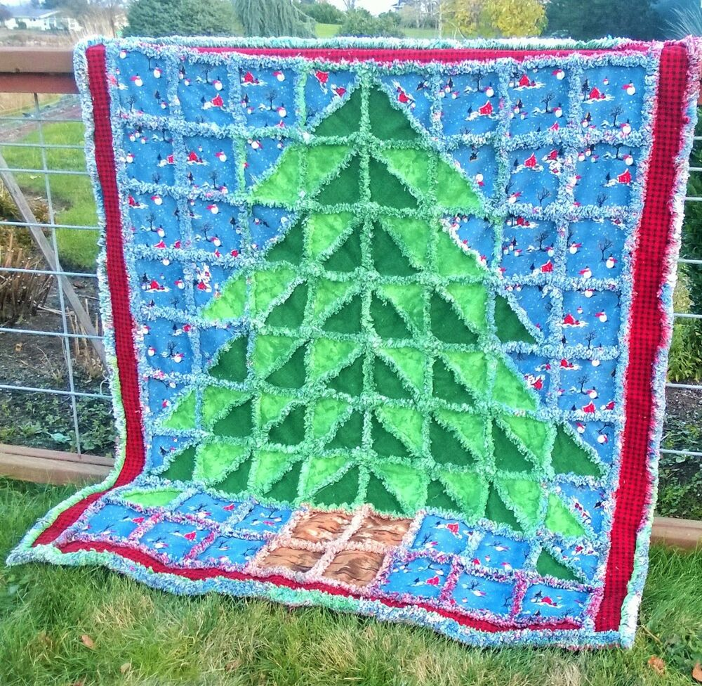Oh Christmas Tree Rag Quilt or Wall Hanging Pattern A La Mode Quick Easy eBay