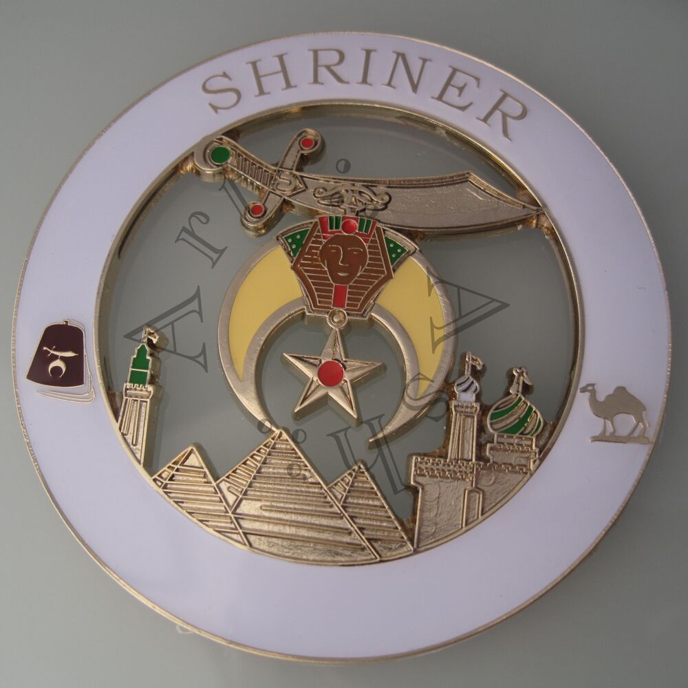 masonic shriner cut out car auto emblem ebay. Black Bedroom Furniture Sets. Home Design Ideas