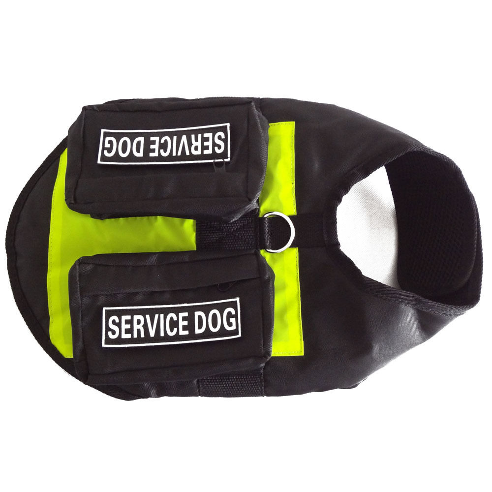 Service Dog Vest Harness Removable 2 Free Magic Patches W