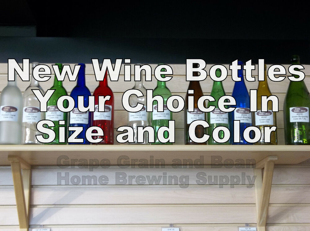 New glass wine bottles your choice in size and color new for How to color wine bottles