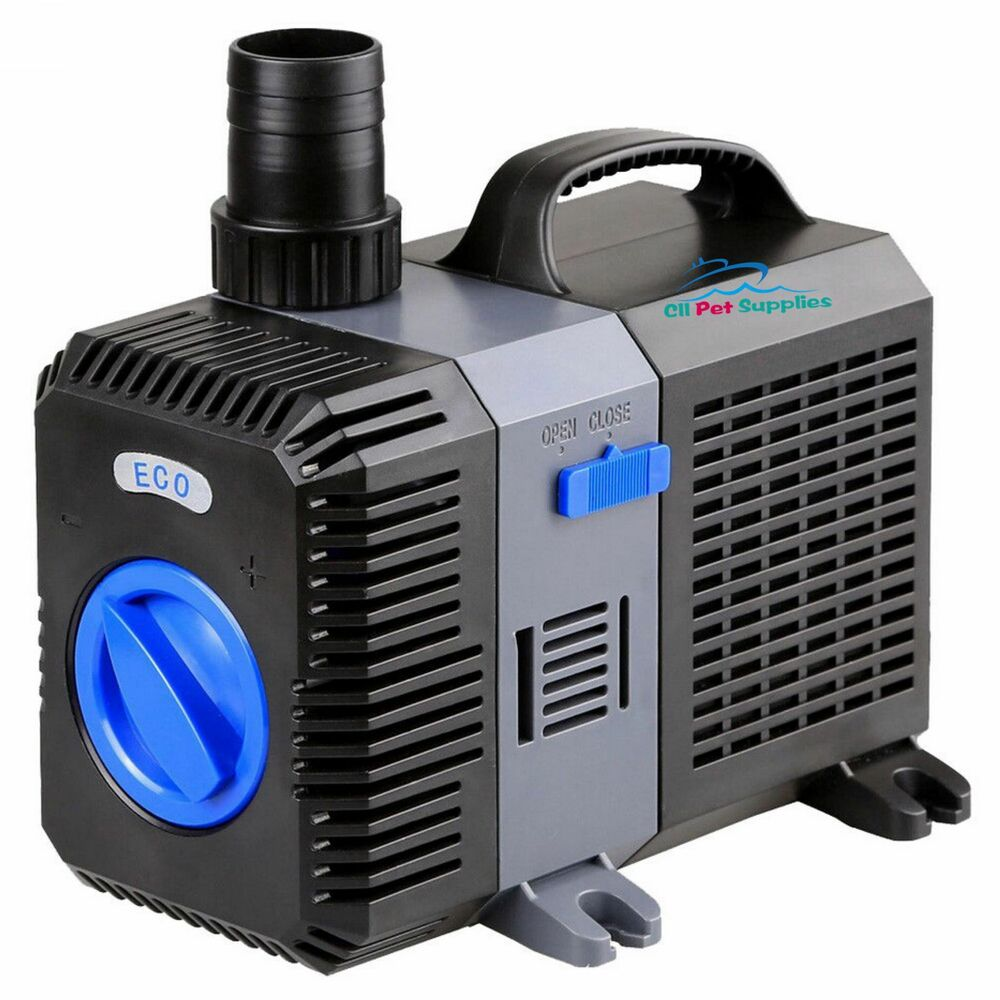 1200 gph pond pump adjustable submersible inline fountain for Submersible pond pump with filter