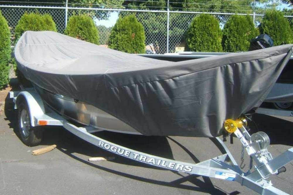 8oz SPECIALTY BOAT COVER FOR DRIFT BOAT WITH BRA 16'-17' 84