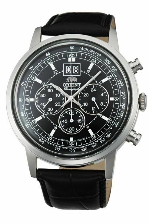 NWT ORIENT Classic Quartz Chronograph Big Date Watch ...