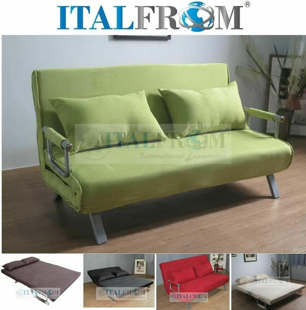 Sofa Bed Double Sofa Bed Microfibre Italfrom Design Ebay