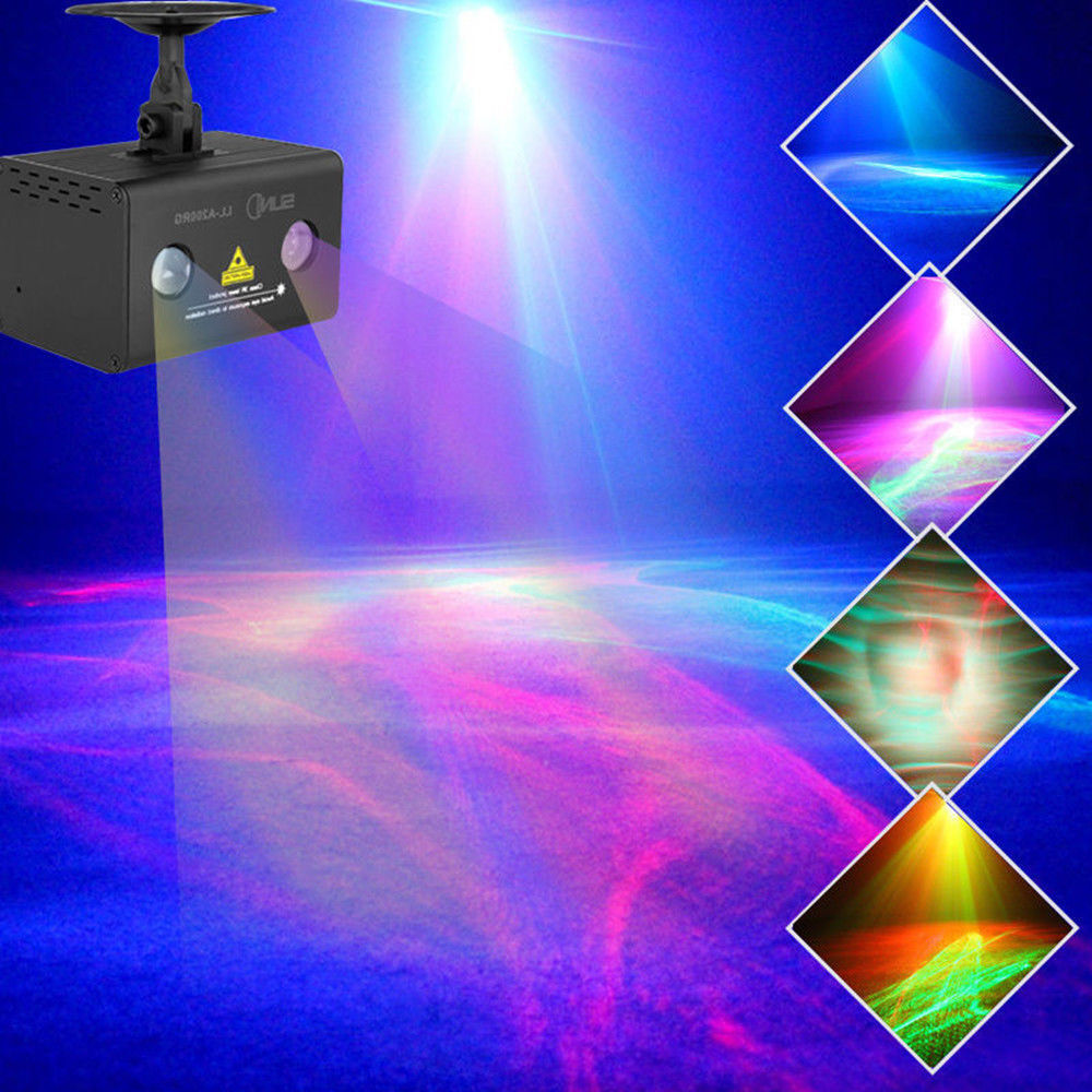 Led Wall Dj Light: Laser Projector Stage Lights Mini LED RGB Lighting Party