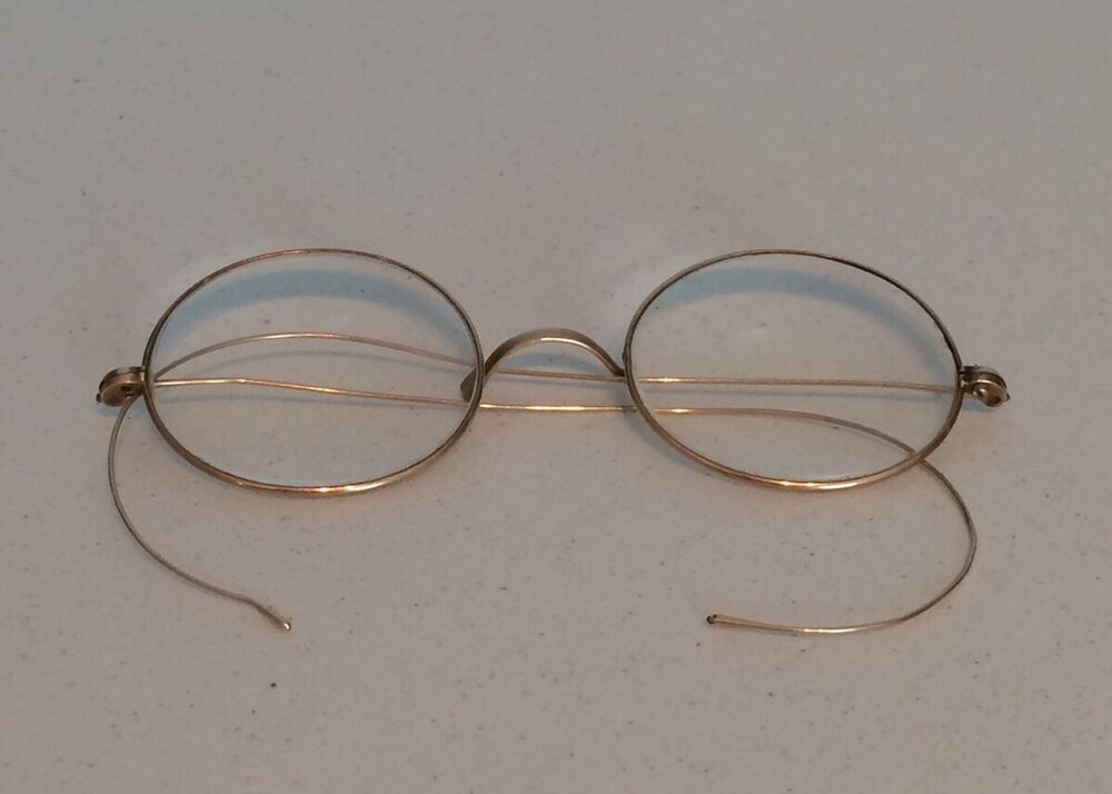 Antique Vintage Framed Round Wire Rim Spectacles ...