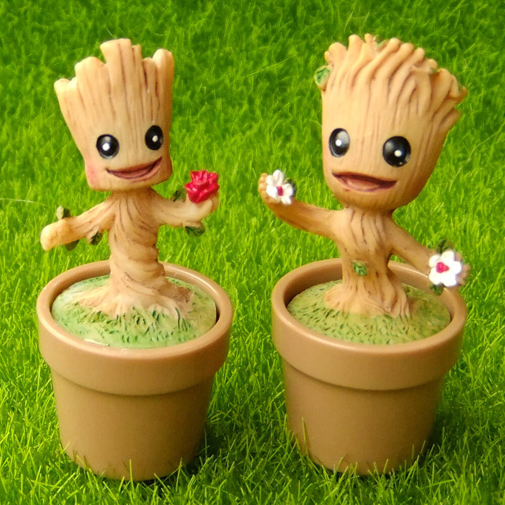 Tree stump gnome sprite flower pot groot fairy garden for Jardin decor 37