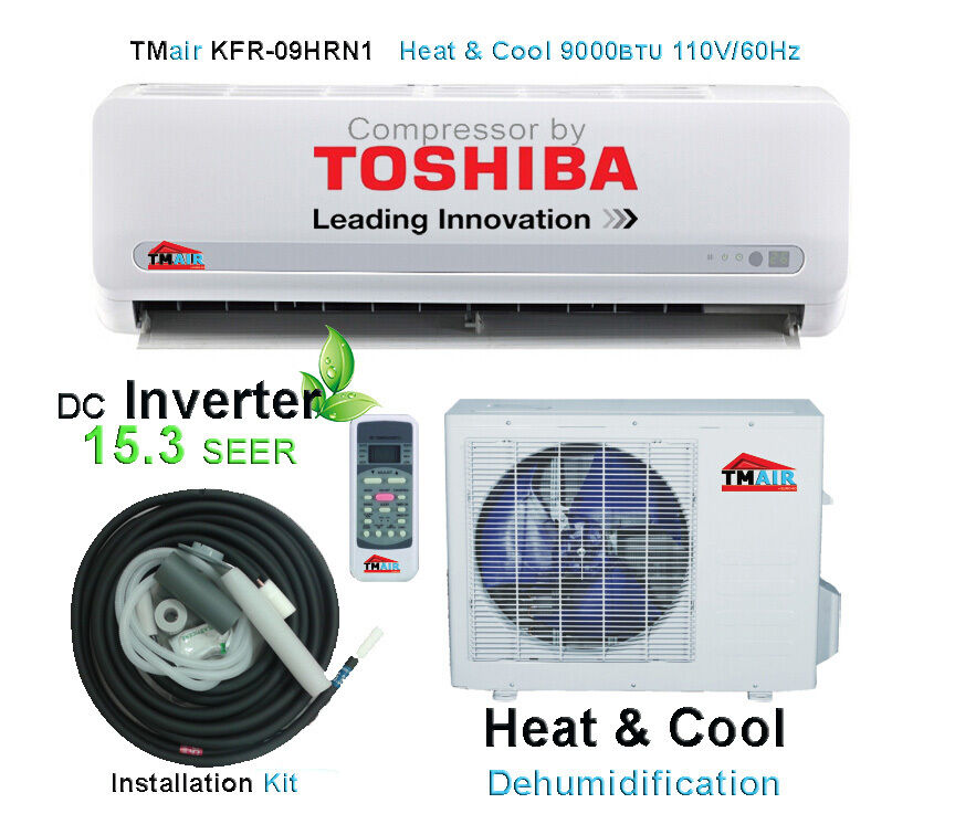 9000 btu ductless inverter mini split ac with energy star for 110v window air conditioner