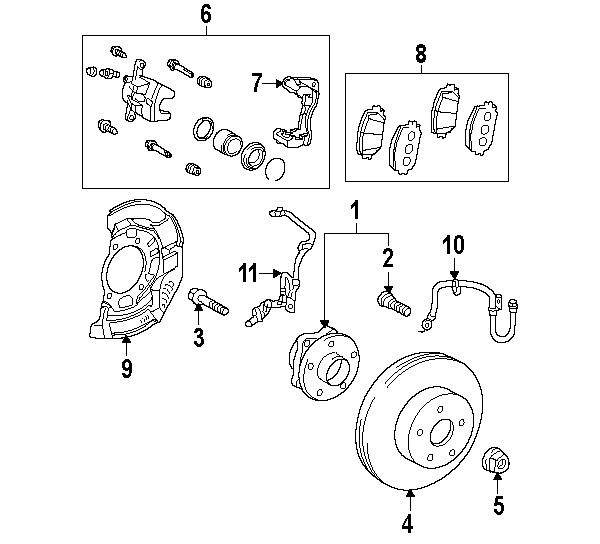 Toyota New Parts Online: TOYOTALEXUS 0446547070 GENUINE OEM FRONT PADS