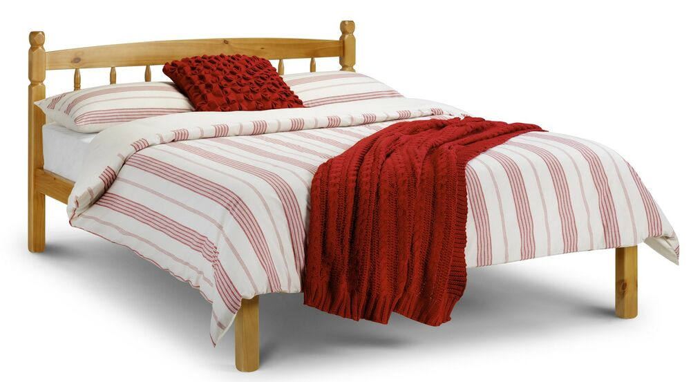 Double Pine Bed 135cm 4'6ft - Mattress not inc - Free Delivery | eBay ...