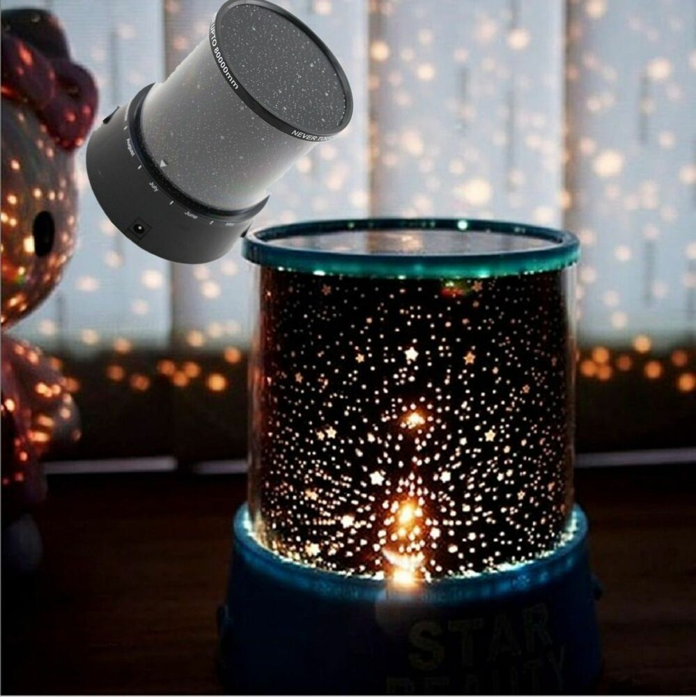 Beautiful LED Starry Night Sky Projector Lamp Kids Room ...