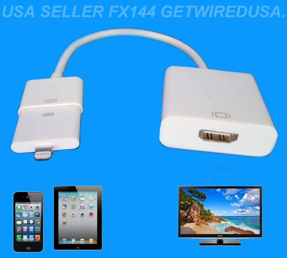 connect iphone to tv apple 8 pin lighting to av hdmi tv iphone 6 plus 13858