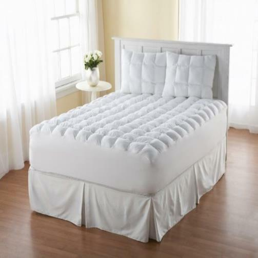 New Bed Count Magic Loft Queen Size 200 Thread Down Alternative Mattress Pad Whi Ebay