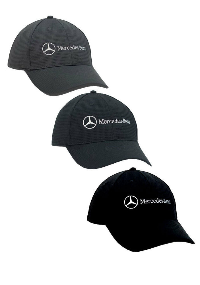 Mercedes benz polyester mesh hat cap avail navy black gray for Mercedes benz hat