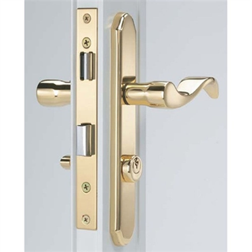 Storm Door Mortise Handle Bright Brass Finish For 1 1 8