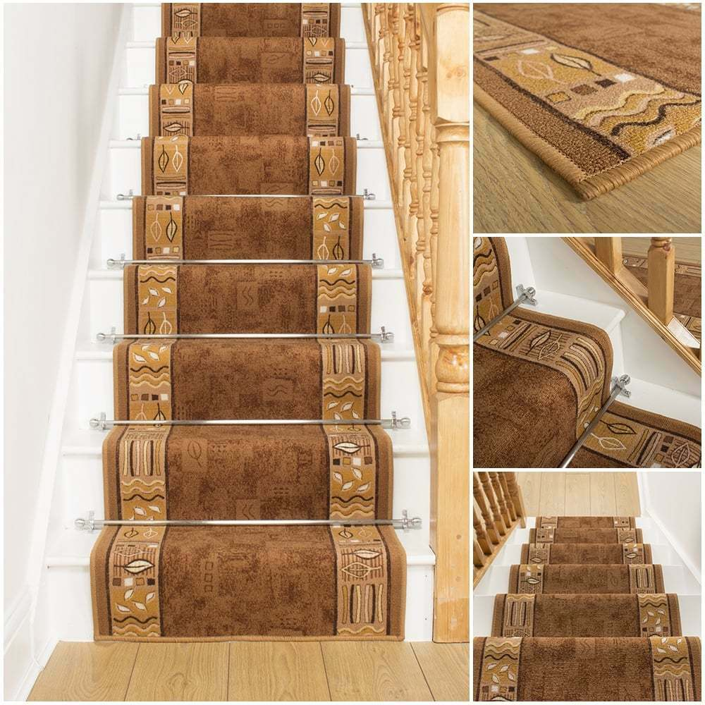 ramses brown stair carpet runner for narrow staircase. Black Bedroom Furniture Sets. Home Design Ideas