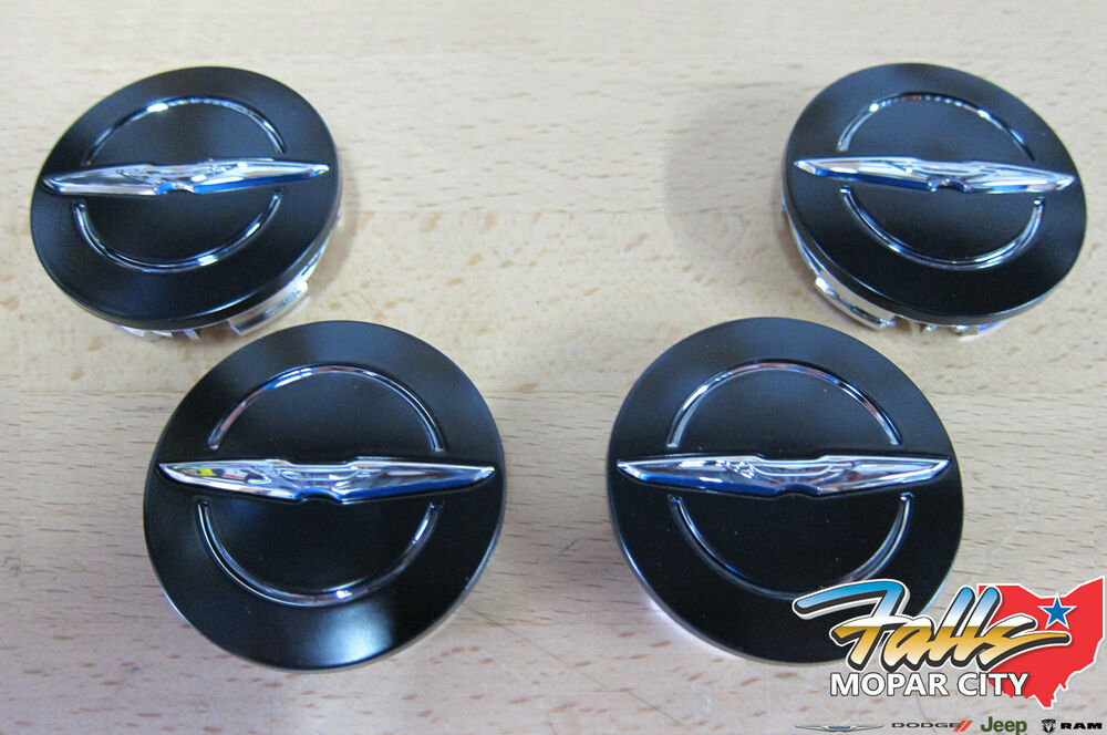 Chrysler 300 S >> 2013-2014 Chrysler 200 Black & Chrome Wheel Center Caps Set of 4 Mopar OEM | eBay