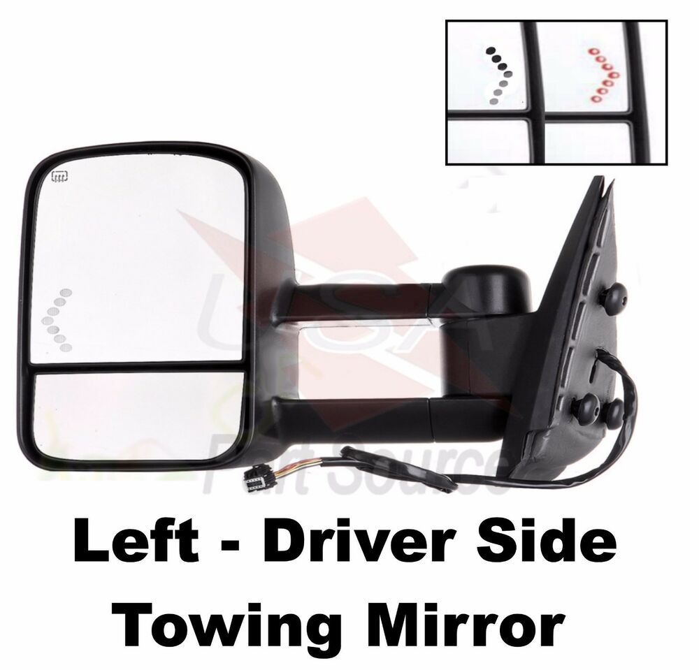 03 04 05 06 hd 1500 2500 silverado power heated tow towing mirror left driver lh ebay. Black Bedroom Furniture Sets. Home Design Ideas