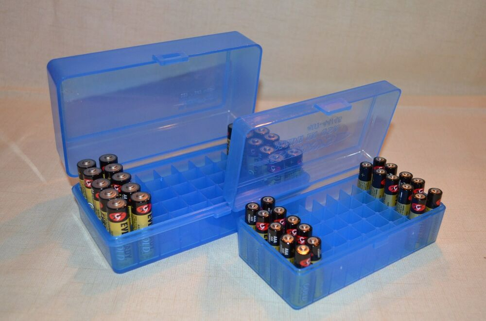 Aa Amp Aaa Battery Plastic Storage Containers Holds 50