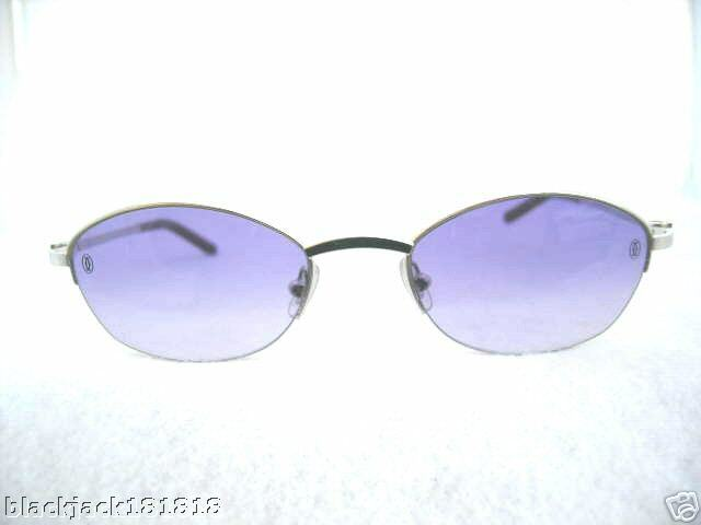 27cdfd4d11 NEW CARTIER SEMI RIMLESS EYEGLASSES PLATINUM FRAME AMETHYST FRANCE  AUTHENTIC