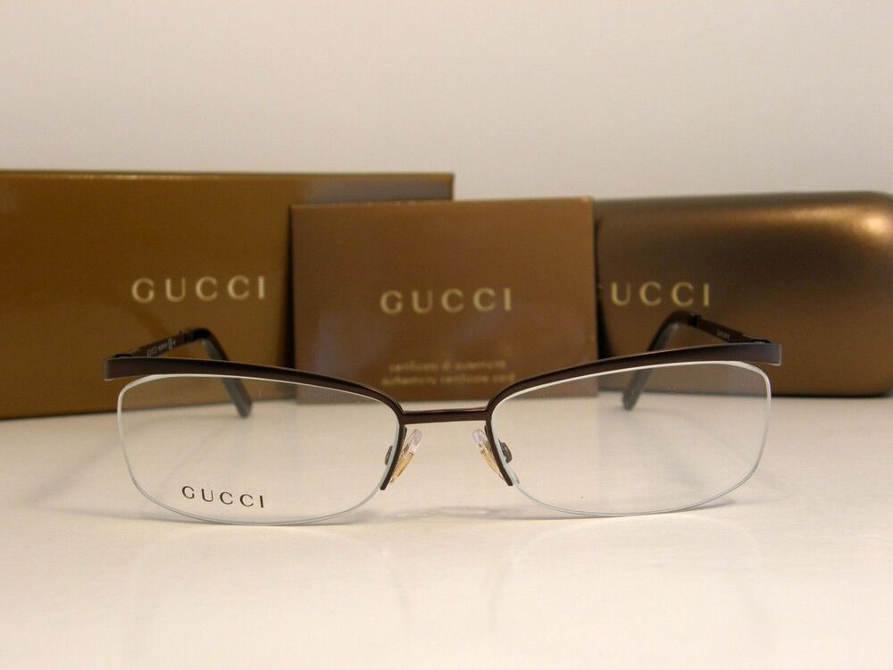 Gucci Metal Frame Glasses : GUCCI EYEGLASSES GLASSES MODEL 2886 COLOR GJI DARK BROWN ...