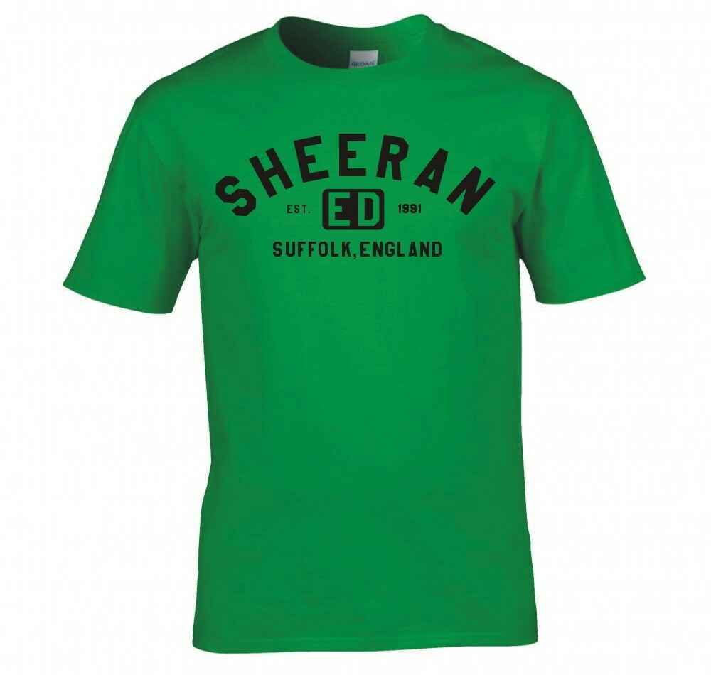 ed sheeran college logo t shirt new ebay. Black Bedroom Furniture Sets. Home Design Ideas