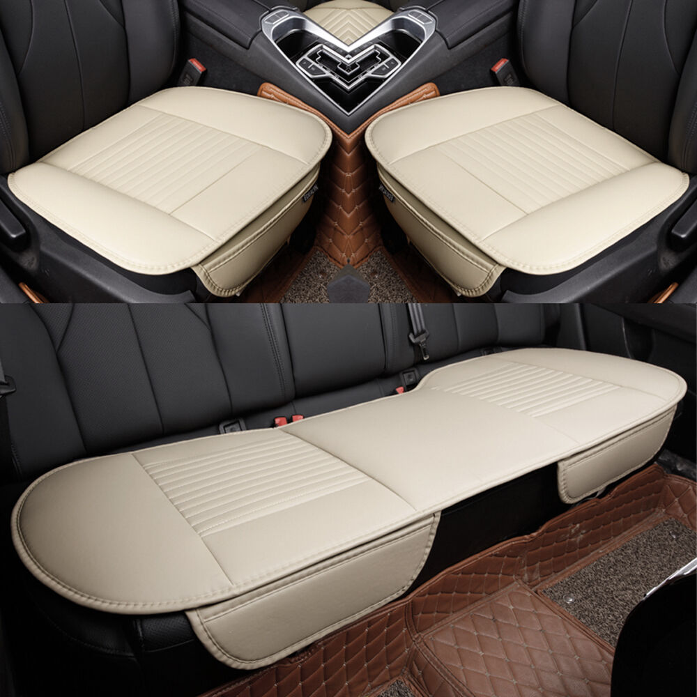 PU Leather Car Seat Cover Front &Rear Seat Cushion Car