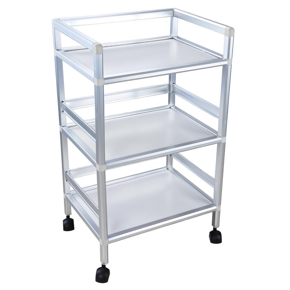 Rolling trolley cart 3 shelves hair beauty salon spa for Salon trolley